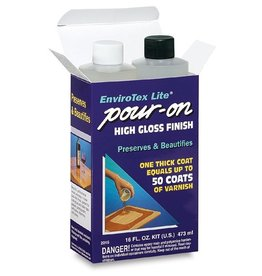 ENVIRONMENTAL TECHNOLOGY ENVIROTEX LITE POUR ON HIGH GLOSS FINISH KIT 16OZ