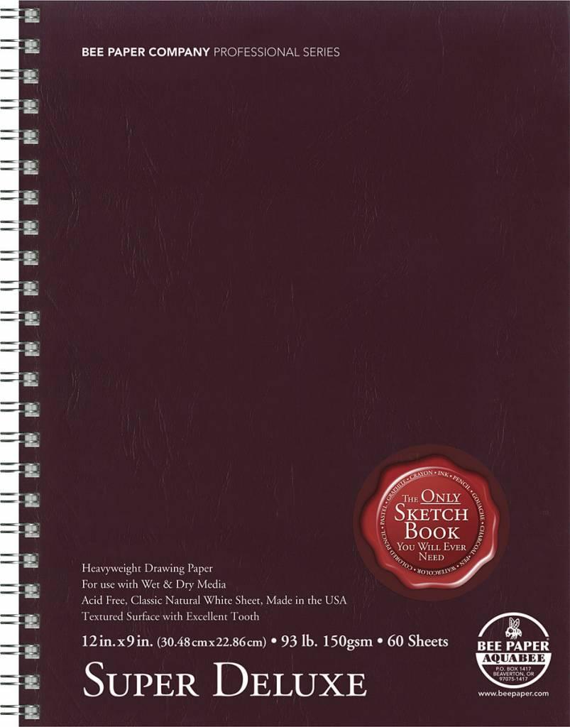 BEE PAPER BEE PAPER SUPER DELUXE SKETCH BOOK 9X12  60/SHT    808S60-912