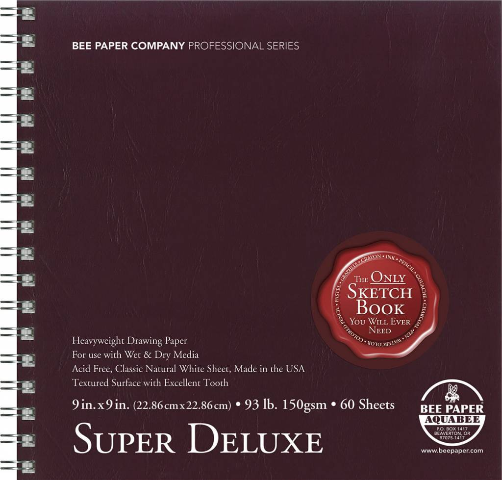 BEE PAPER BEE PAPER SUPER DELUXE SKETCH BOOK 9X9  60/SHT    808S60-909
