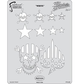 ARTOOLPRODUCTS ARTOOL FREEHAND AIRBRUSH TEMPLATE PTR2 WHITE