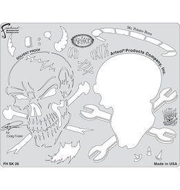 ARTOOLPRODUCTS ARTOOL FREEHAND AIRBRUSH TEMPLATE SK26 MR.POTATO BONZ