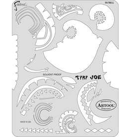 ARTOOLPRODUCTS ARTOOL FREEHAND AIRBRUSH TEMPLATE TM11 TIKI JOE