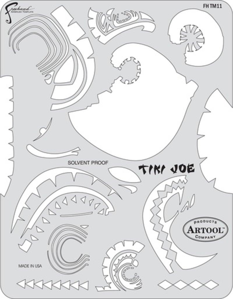 ARTOOLPRODUCTS ARTOOL FREEHAND AIRBRUSH TEMPLATE TM11 TIKI JOE