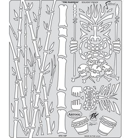 ARTOOLPRODUCTS ARTOOL FREEHAND AIRBRUSH TEMPLATE KFX1 TIKI MADNESS