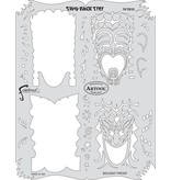 ARTOOLPRODUCTS ARTOOL FREEHAND AIRBRUSH TEMPLATE TM10 TWO FACED TIKI