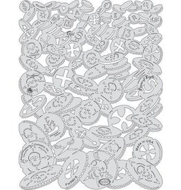 ARTOOLPRODUCTS ARTOOL FREEHAND AIRBRUSH TEMPLATE PRY6 PIECES OF EIGHT