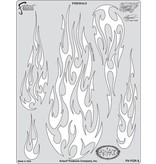ARTOOLPRODUCTS ARTOOL FREEHAND AIRBRUSH TEMPLATE FOR8 FIRE BALZ