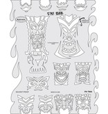 ARTOOLPRODUCTS ARTOOL FREEHAND AIRBRUSH TEMPLATE TM4 TIKI BAR
