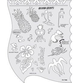ARTOOLPRODUCTS ARTOOL FREEHAND AIRBRUSH TEMPLATE TM6 ALOHA SPIRIT