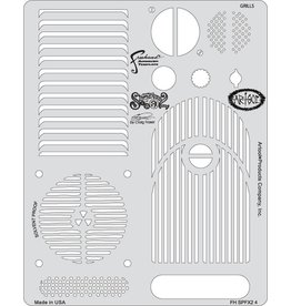 ARTOOLPRODUCTS ARTOOL FREEHAND AIRBRUSH TEMPLATE SPFX2-4 GRILLS