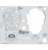 ARTOOL FREEHAND AIRBRUSH TEMPLATE SDSK1 STEAM SKULL