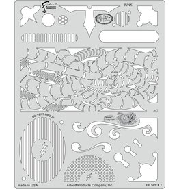 ARTOOLPRODUCTS ARTOOL FREEHAND AIRBRUSH TEMPLATE SPFX1 JUNK