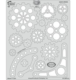 ARTOOLPRODUCTS ARTOOL FREEHAND AIRBRUSH TEMPLATE SPFX6 GEAR DRIVES