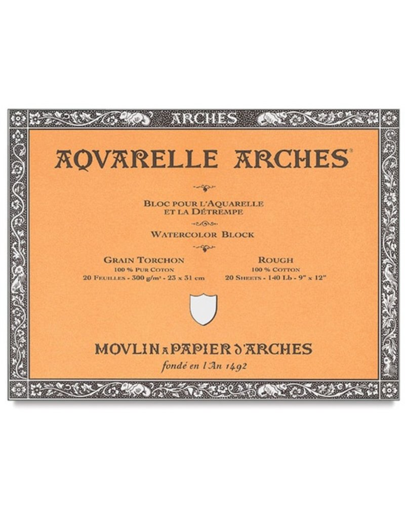 ARCHES ARCHES WATERCOLOUR BLOCK 140LB ROUGH 12X16