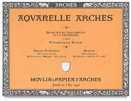 ARCHES ARCHES WATERCOLOUR BLOCK 140LB ROUGH 10X14