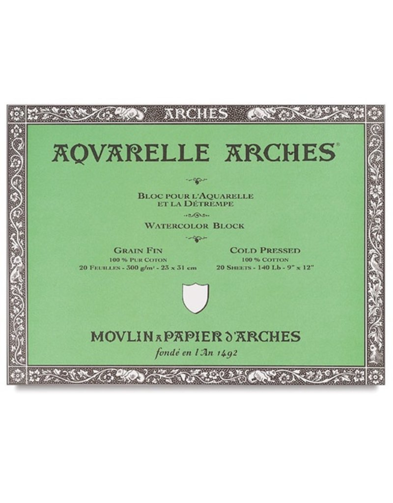 ARCHES ARCHES WATERCOLOUR BLOCK 140LB CP 6X12    DISC
