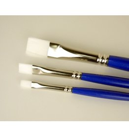 COLOURS BRUSH SERIES 719 WHITE TAKLON LH BRIGHT 1  3/16""