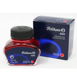 PELIKAN PELIKAN 4001 INK BRILLIANT RED 2OZ