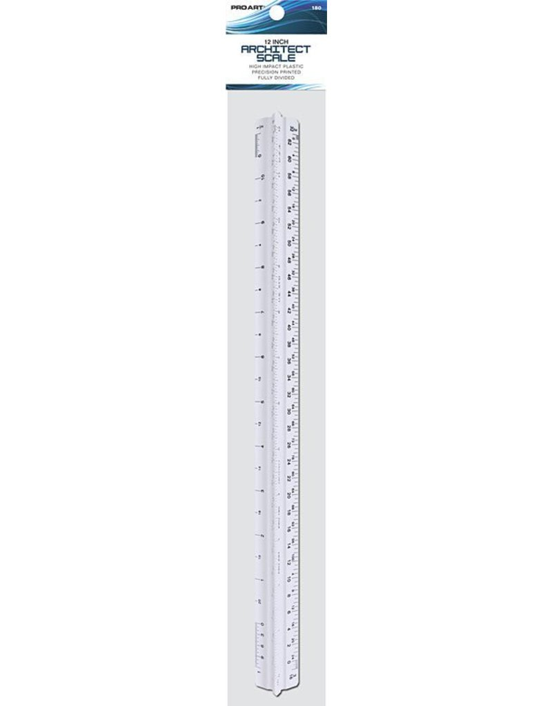 PRO ART PRO ART ARCHITECT TRI-SCALE RULER 12''   180