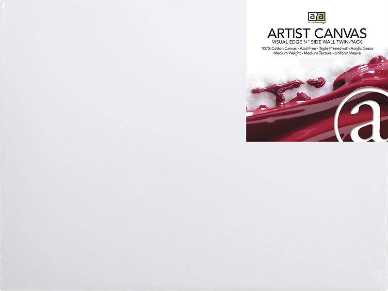 ART ADVANTAGE ART ADVANTAGE STRETCHED CANVAS 14X18 2/PK    SALE PRICE
