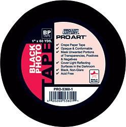 "PRO ART PRO ART PHOTO TAPE ACID FREE BLACK 1"" X 60 YDS"