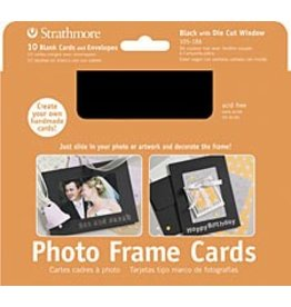 STRATHMORE STRATHMORE PHOTO FRAME CARDS BLACK 10/PK