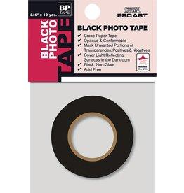 "PRO ART PRO ART PHOTO TAPE ACID FREE BLACK 3/4"" X 10 YDS"