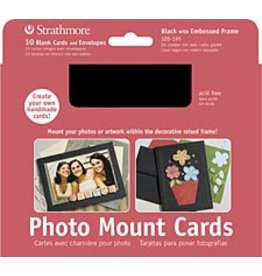 STRATHMORE STRATHMORE PHOTO MOUNT CARDS BLACK 10/PK