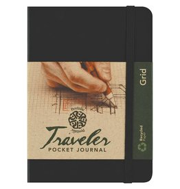 PENTALIC PENTALIC TRAVELER POCKET JOURNAL GRID 6X4 BLACK