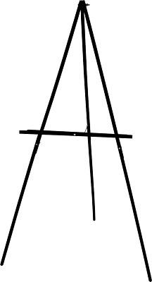 ART ADVANTAGE ART ADVANTAGE FLOOR DISPLAY EASEL BLACK    E211-BLK