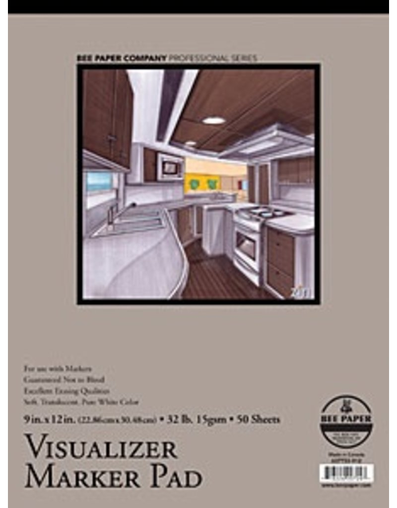 BEE PAPER BEE PAPER VISUALIZER MARKER PAD 9X12 13LB  50SHT