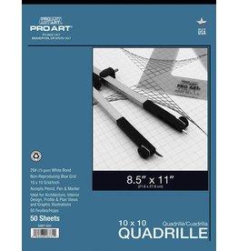 PRO ART PRO ART QUADRILLE PAPER 20LB 8.5X11 10X10 GRID 50SH