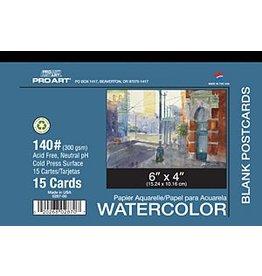 PRO ART PRO ART WATERCOLOUR POSTCARDS 140LB 15/PK