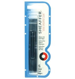 SHEAFFER SHEAFFER INK CARTRIDGE BLACK 5/PK