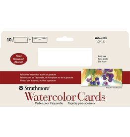 STRATHMORE STRATHMORE WATERCOLOUR CARDS 10/PK    105-153