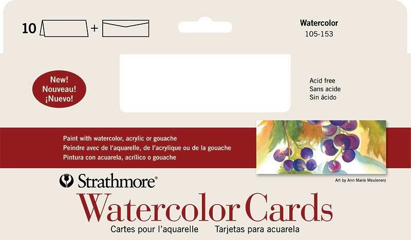 STRATHMORE STRATHMORE WATERCOLOUR CARDS 10/PK    105-153