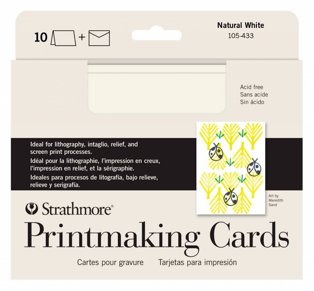 STRATHMORE STRATHMORE PRINTMAKING CARDS WITH ENVELOPES 5X7 10/PK    105-433
