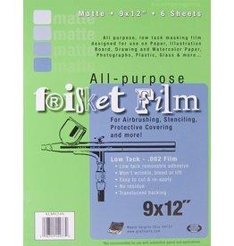 """GRAFIX FRISKET FILM MATTE LOW TACK 9""""X12"""" 6/PK"""