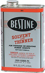 UNION RUBBER BESTINE SOLVENT AND THINNER 16OZ