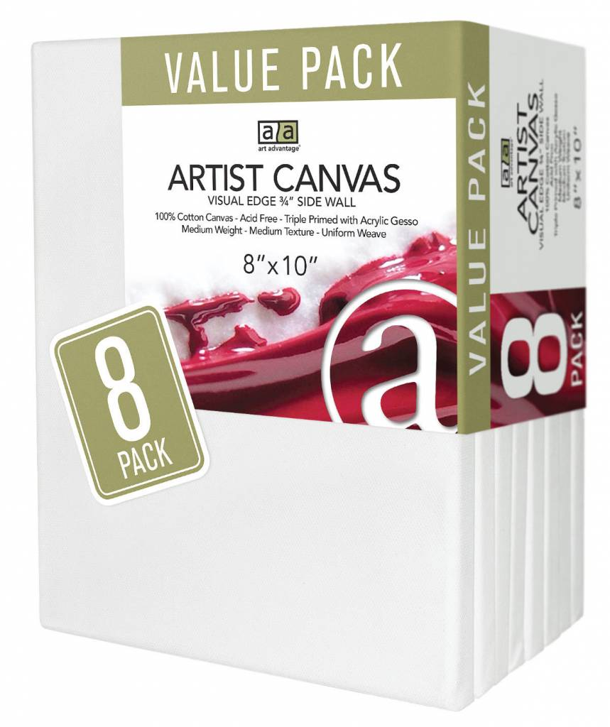 ART ADVANTAGE ART ADVANTAGE STRETCHED CANVAS BULK 8X10 8/PK