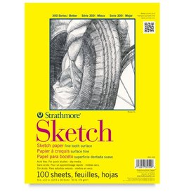 STRATHMORE STRATHMORE 300 SKETCH PAD 9X12 TAPE BOUND  100/SHT    350-109