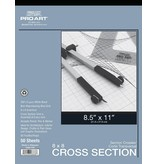 PRO ART PRO ART CROSS SECTION PAD 8.5X11 8X8 GRID 50SHT
