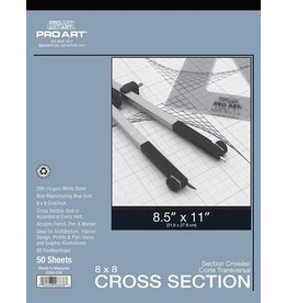PRO ART PRO ART CROSS SECTION PAD 8.5X11 8X8 GRID 50SHT