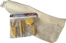 ART ADVANTAGE ART ADVANTAGE POTTERY TOOL KIT W/ APRON 8PC