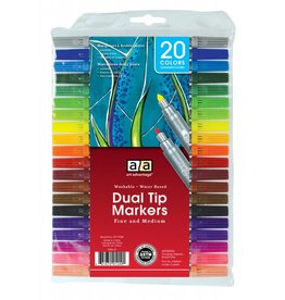 ART ADVANTAGE ART ADVANTAGE WASHABLE DUAL TIP MARKER SET/20 COLOURS