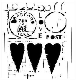 TEMPLATE TCW455 12X12 LOVE POST