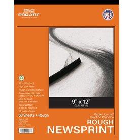 PRO ART PRO ART NEWSPRINT PAD ROUGH 9X12 50/SHT