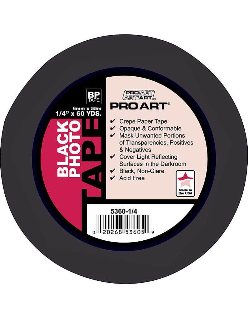 "PRO ART PRO ART PHOTO TAPE ACID FREE BLACK 1/4"" X 60 YDS"