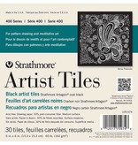 STRATHMORE STRATHMORE ARTIST TILES SERIES 400 COAL BLACK 6X6 30 TILES