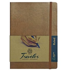 PENTALIC PENTALIC TRAVELER POCKET JOURNAL RULED 8X6 METALLIC COPPER